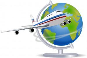 出国飛行機